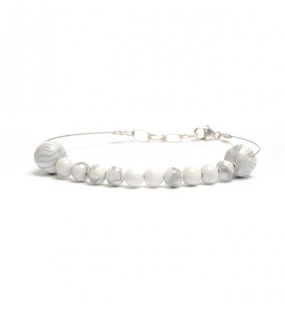 Bracelet avec perles effet marbré