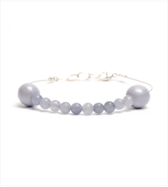 Bracelet avec perles Iolite