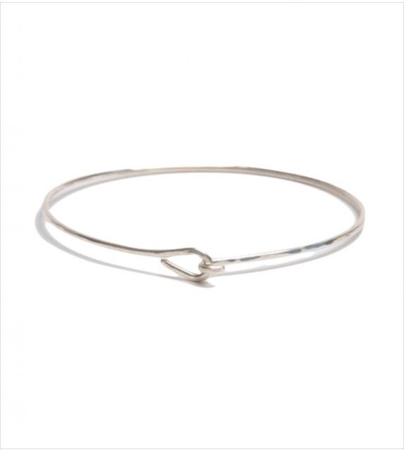 Bracelet Jonc à noeud en argent martelé