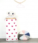Sac de Rangement Petits Coeur (Grand Modèle) Coloris Rose