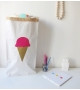 Sac de Rangement Ice Cream (Grand Modèle) Rose Gold