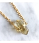 Collier sautoir bohème UNDER MY SKIN Quartz Jaune