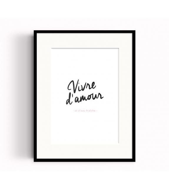 """Affiche """"VIVRE D'AMOUR"""""""