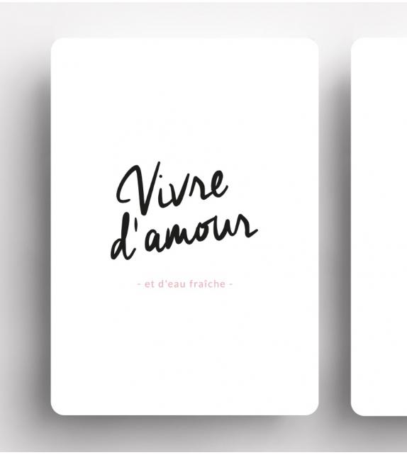"""Carte """"VIVRE D'AMOUR"""""""