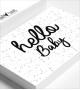 """Carte """"HELLO BABY"""""""