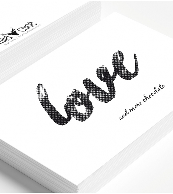 "Carte ""LOVE & MORE CHOCOLATE"""
