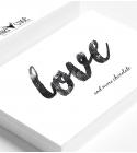 "Carte ""LOVE & MORE CHOCOLATE"""