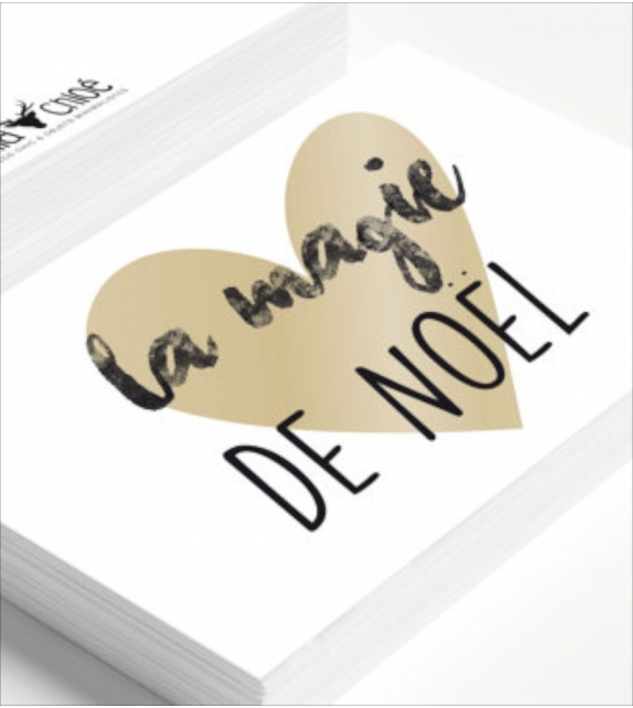 "Carte ""LA MAGIE DE NOËL"""