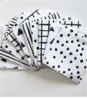 Lingettes démaquillantes lavables Black & White