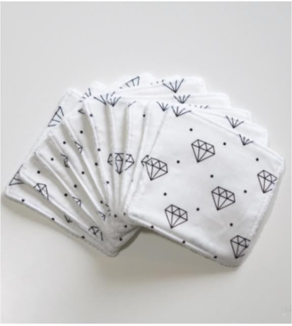 Lingettes démaquillantes lavables Diamond